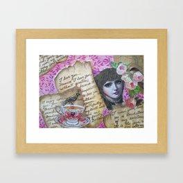 Love letters Framed Art Print