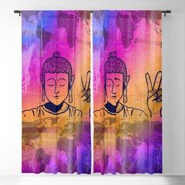 Buddha World Peace Blackout Curtain