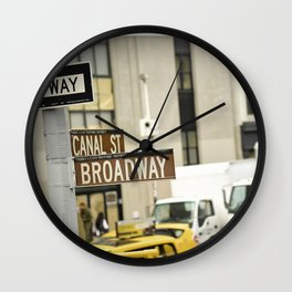 Standing at the Crossroads Wall Clock