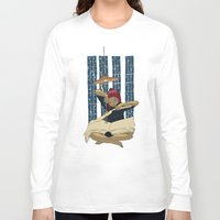 pocket fuel Long Sleeve T-shirts featuring Fuel for winter nights by Diana Stanciulescu