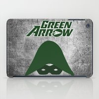 green arrow iPad Cases featuring The Green Arrow by bivisual
