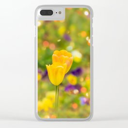 Valentine tulips Clear iPhone Case