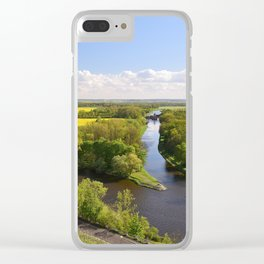 Czech sunny spring landscape Clear iPhone Case