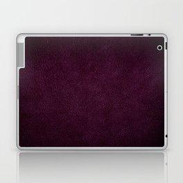 Dark purple leather sheet texture abstract Laptop & iPad Skin