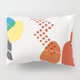 Shape & Hue Series No. 3 – Yellow, Orange & Blue Modern Abstract Pillow Sham