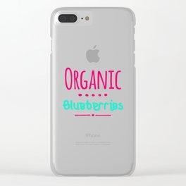 Organic Blueberries Fun Summer Flavors Clear iPhone Case