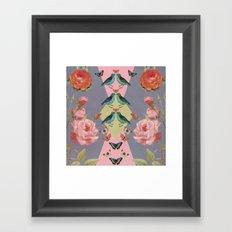 Love Birds (gray version) Framed Art Print
