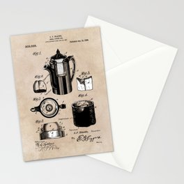 patent China Coffee pot - Blanke - 1909 Stationery Cards
