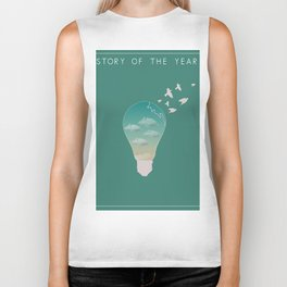 Story of the year print Biker Tank