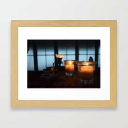 Candlelit Warmth - Winchester Mountain, Washington State Framed Art Print