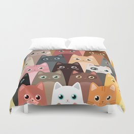Cats Pattern Duvet Cover