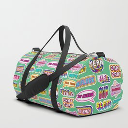 Pattern #4: YOLO, Slay!, Hell Yeah!, Yas Kween, etc. Duffle Bag