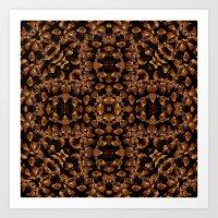 Pattern pine cones Art Print