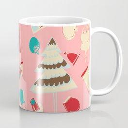 Vintage Christmas Pink Coffee Mug