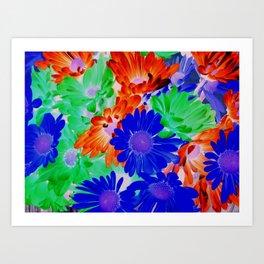 Daisies (Inverted) Art Print