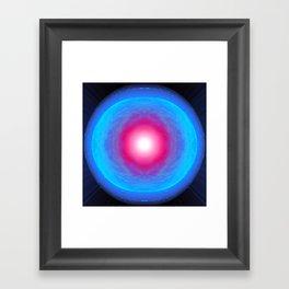 Pink Point Moon. Framed Art Print
