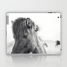 Horse Print | Modern and Black and White Laptop & iPad Skin