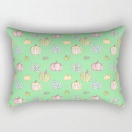 Pumpkin Pattern on Green Blackground Rectangular Pillow