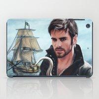 captain hook iPad Cases featuring The Captain by Svenja Gosen