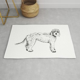 Labradoodle/Goldendoodle Ink Drawing Rug