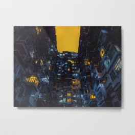 Ghost In The Shell Vibes / Liam Wong / Hong Kong Cyberpunk Metal Print
