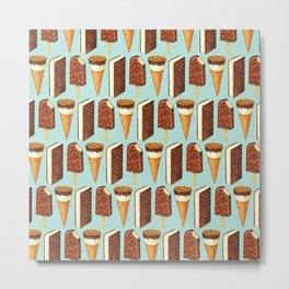 Ice Cream Pattern - Popsicles Metal Print