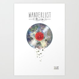 Wanderlust recordings Art Print
