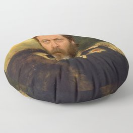 Nick Offerman Classical Painting Photoshop Floor Pillow