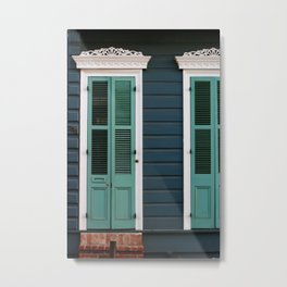 New Orleans Creole Cottage Metal Print
