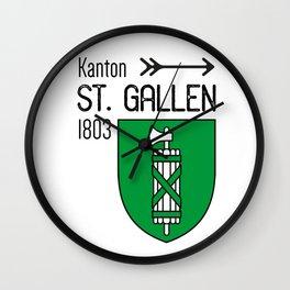 Canton of St. Gallen Wall Clock
