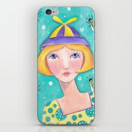 Whimiscal with Bees iPhone Skin