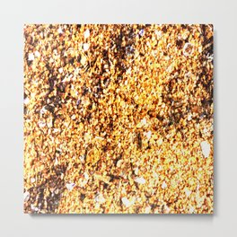 Coarse sand close-up Metal Print