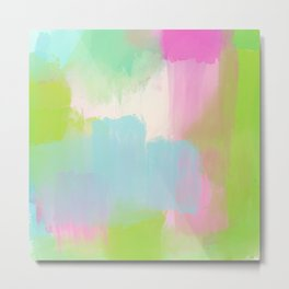 Garden Whimsy Abstract Watercolor Metal Print