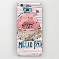 fat iPhone & iPod Skins featuring FAT by PranitaKocharekar