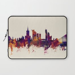Warsaw Poland Skyline Laptop Sleeve