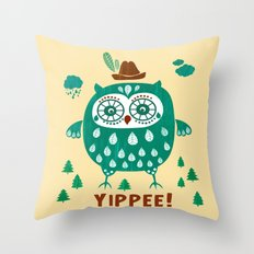 yippiee! Throw Pillow