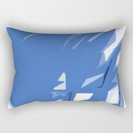 Abstract In Blue Rectangular Pillow