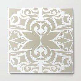 grey floral pattern Metal Print
