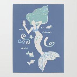 Mermaid Selfie Poster