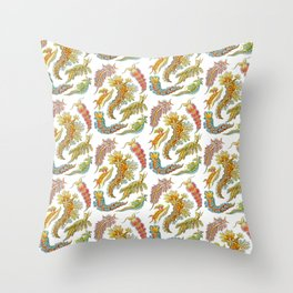 Ernst Haeckel Nudibranch Sea Slugs Throw Pillow