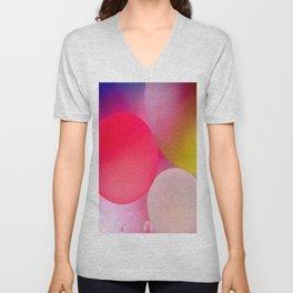 Multicolored Pastel Oil Bubble Water Drops Unisex V-Neck