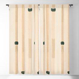 Tokyo Bamboo - Hand-Drawn Minimalist Nature Pattern Blackout Curtain