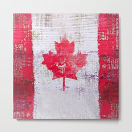 Canadian Flag Painting Tote Bag Abstract Maple Leaf Canada Metal Print