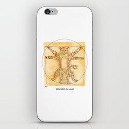 Leopardo da Vinci iPhone Skin