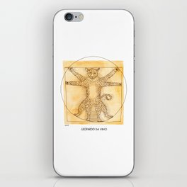 Leopardo da Vinci iPhone Skin