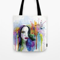 eternal sunshine Tote Bags featuring Eternal sunshine by YOUMEECHO  ILLUSTRATION STUDIO
