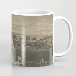 Vintage Cleveland Ohio Illustration (1833) Coffee Mug