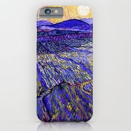 Lavender Fields with Rising Sun by Vincent van Gogh iPhone Case