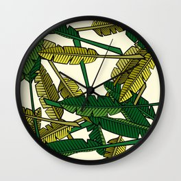 Botany: Banana Leaves Wall Clock