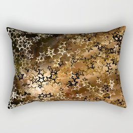 Golden shiny stars pattern Rectangular Pillow
